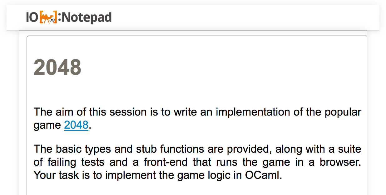 IOCaml Notepad